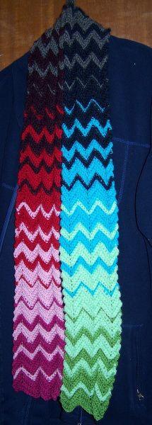 Pattern. Zig zag or wave crochet stitch.