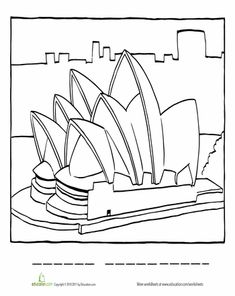 Sydney Opera House Colouring Page. | Education http://www.education.com/worksheet/article/color-sydney-opera/