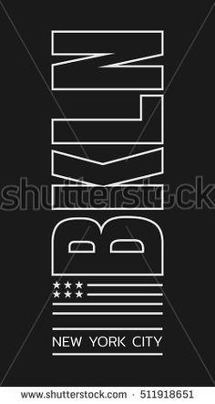 Vector Illustration On Theme New York Stock Vector (Royalty Free) 511918651 Tee Design, Print Design, Logo Design, Graphic Design, Typography Drawing, Creative Typography Design, Fashion Graphic, Apparel Design, Graphic Tees