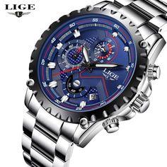 a6f3cb2ae1d LIGE Men's Watches Top Brand Luxury Men Fashion Sport Quartz Watch Man  Multifunctional Waterproof Date Clock