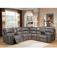 Relax in comfort and style with this ultra-premium top grain leather reclining sectional sofa. This luxurious leather living room furniture is handcrafted using the finest quality materials to create exquisite leather furniture.