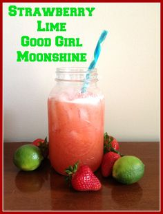 Strawberry Lime Good Girl Moonshine w/ apple cider vinegar
