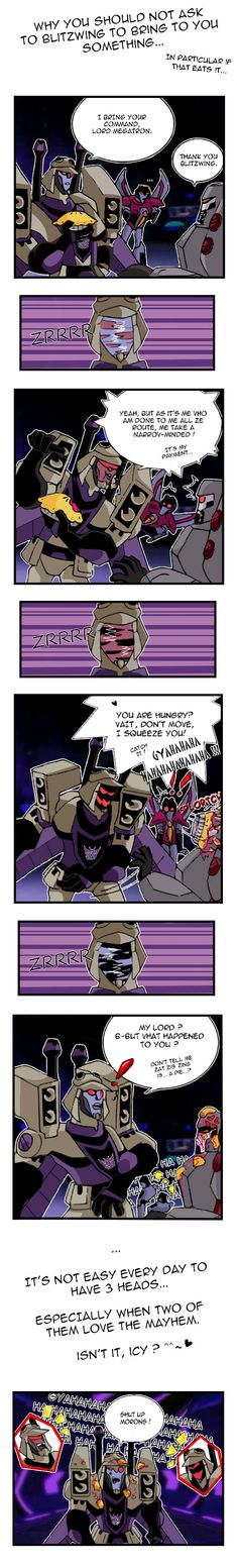 Blitzwing and pie's problems