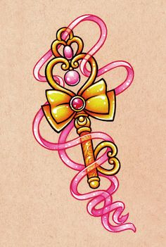 Chibiusa's Time Key by danniijoArt on Etsy