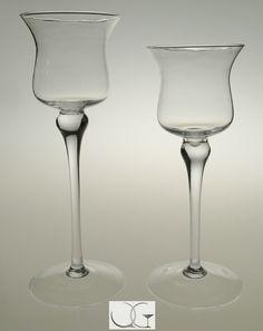 Świecznik kielich szklany Tulipan h-40