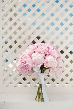 Beautiful bridal bouquet with pink peonies!  See more http://www.love4wed.com/pink-peonies-fairytale-wedding/ #peonieswedding