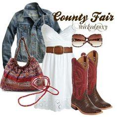 County fair.  Love the boots!