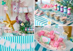 Beach Theme Birthday Party Ideas | Mermaid under the sea themed birthday party via Kara's Party Ideas ...