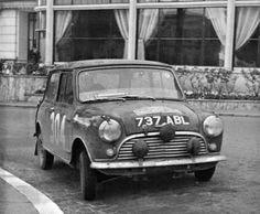 737 ABL 997cc Cooper , 1962 Tulip rally, Mini's first ever rally win .