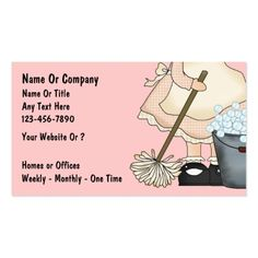 Maid or Cleaning Services Business Card | Discover more ideas ...