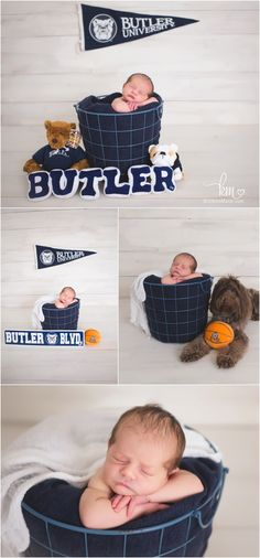 Butler University newborn photography pictures - Butler Basketball included