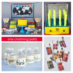 love this school themed party ideas ...love the bottles