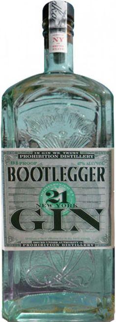 Gin von Bootlegger in der 0,7l Flasche mit 47% Vol. Alc.