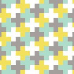 Camelot Cottons House Designer - Penelope - Greek Cross in Aqua