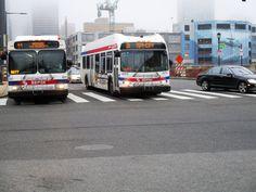 SEPTA New Flyer buses on Market St. Phila.2017