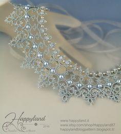 Cinderella needle tatting necklace by Happyland87 on Etsy