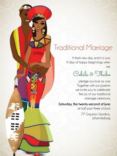 Bekebeke Zulu South African Traditional Wedding Invitation - Welcome to our website, We hope you are satisfied with the content we offer. Zulu Traditional Wedding, Traditional Wedding Invitations, Wedding Invitation Design, Traditional Décor, African Wedding Theme, African Theme, African Attire, African Safari, Zulu Wedding