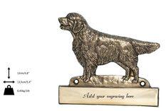 Golden Retriever, dog plaque, can be engraved, limited edition, ArtDog Dogs Golden Retriever, Retriever Dog, Lion Sculpture, Statue, Canning, Etsy, Art, Art Background, Kunst