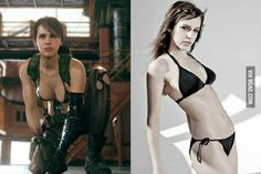 Dutch Model Stephanie Joosten provided the likeness and motion capture for Quiet a character of Metal Gear Solid V: The Phantom Pain. - www.viralpx.com