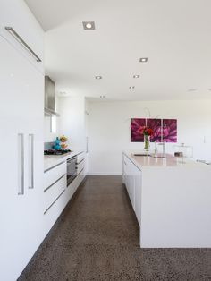 modern kitchen - Ours will have a little more character than this, but this is near perfect if we choose a galley-style