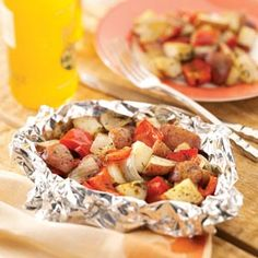 Grilled Potatoes Plus  make foil packets of veggies and grill them during the summer so you don't heat up the house cooking!