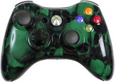 Green Skullz Custom Xbox 360 Controller - Brand New Xbox 360 Controller