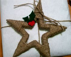 Twine Wrapped Christmas Star Ornament by Rebekah at All Thingz Related {Ornament No. 9} - bystephanielynn
