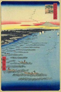 <名所江戸百景 南品川鮫洲海岸 : MINAMI SHINAGAWA SAMEZU KAIGAN> SAMEZU COAST AT MINAMI…