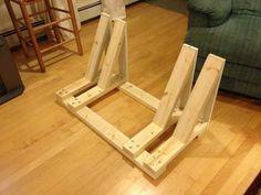 I built my girlfriend a bike rack for christmas. I built for girlfriend a bike rack for christmas. Wood Bike Rack, Pallet Bike Racks, Truck Bike Rack, Diy Bike Rack, Bike Storage Rack, Bike Holder, Diy Garage Storage, Bicycle Rack, Bike Racks For Trucks