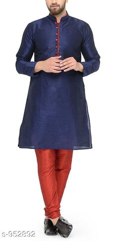 Checkout this latest Kurta Sets Product Name: *Traditional Cotton Blend Men's Kurta Pyjama Set* Top Fabric: Cotton Blend Bottom Fabric: Cotton Blend Scarf Fabric: No Scarf Sleeve Length: Long Sleeves Bottom Type: Churidar Pant Stitch Type: Stitched Pattern: Solid Sizes: XL, XXL Country of Origin: India Easy Returns Available In Case Of Any Issue   Catalog Rating: ★4.1 (1658)  Catalog Name: Men's Ethnic Fancy Kurta Pyjama Sets Vol 3 CatalogID_112579 C66-SC1201 Code: 578-952892-6891