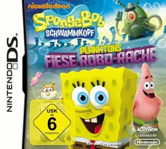 SpongeBob Schwammkopf Planktons Fiese Robo-Rache Nintendo DS lite DSi XL 3DS 2DS