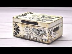 MIXED MEDIA BOX TUTORIAL --- DIY by Catherine - YouTube