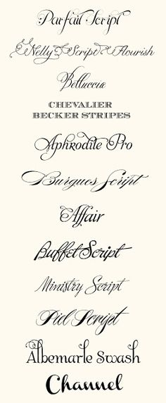 CT Designs Calligraphy And Wedding Stationery Top Fonts Of 2012