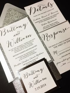 Ready to start on your set of wedding invitations? Purchase this deposit to get started and then send your wording, glitter color selection, and envelope color preferences (there are over 100 envelope