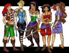 The Pirates of Disney by ~geomexia on deviantART