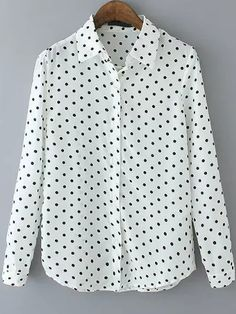 Lapel Polka Dot White Blouse Disclaimer: I do not recommend buying anything from Romwe. They are great for inspiration, but that's all.
