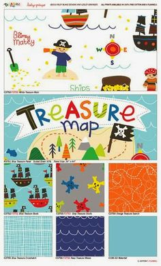 Quilt Taffy: Giveaway Day - Vintage Happy & Treasure Map!