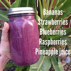 Berry Tropical Smoothie- a delicious all fruit smoothie perfect for detoxing (and indulging!) in the New Year For more smoothie information, click the link. Fruit Smoothies, Juice Smoothie, Smoothie Drinks, Detox Drinks, Healthy Smoothies, Healthy Drinks, Healthy Snacks, Healthy Eating, Clean Eating