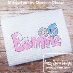 Be Mine Birdie Sketch Embroidery Design