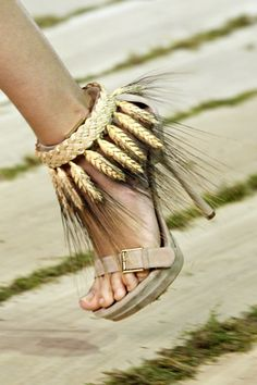 Alexander McQueen- ,,,,,,,,,GAK! Children of the corn, ( know it's wheat) but hot damn these are bad!
