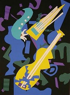 music collage- Matisse Jazz Series