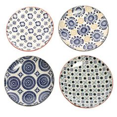 Pols Potten Mosaic Small Assorted Plates at Heal's