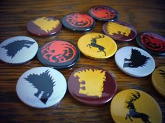 Game of thrones badges. Limited availability on these