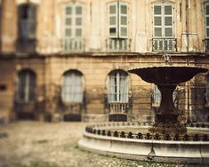 ~Provence Photograph, Fountain, Aix-en-Provence, South of France