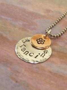 hand stamped jewelry Must try! #ecrafty @Kim at eCrafty.com #stampedmetalblanks #jewelrysupplies #stampedmetaljewelry #necklacesupplies #ballchainnecklaces #jumprings #metalstampingblanks