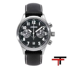 Reloj Junkers Corrugated Sheet Negro Cronografo Mecánico  http://www.tutunca.es/reloj-junkers-corrugated-sheet-negro-cronografo-mecanico