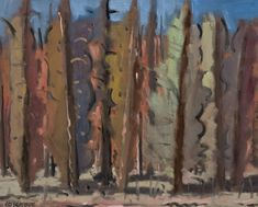 View Trees By Stanley Cosgrove; oil on canvas; Access more artwork lots and estimated & realized auction prices on MutualArt. Oil On Canvas, Auction, Trees, Medium, Artwork, Painting, Work Of Art, Painted Canvas, Painting Art