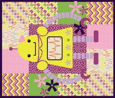 Girls Like Robots, Too!!! QUILT fabric by jumping_birds on Spoonflower - custom fabric