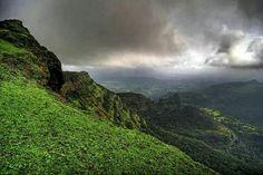 View of sahyadree mountain from Bheema shankar pune maharashtra