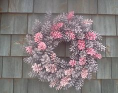 Pretty IN Pink Maine Pinecone Wreath 18 Inch
